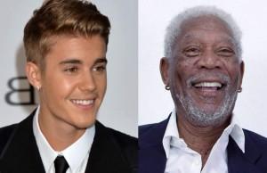 Justin-Bieber-Morgan-Freeman